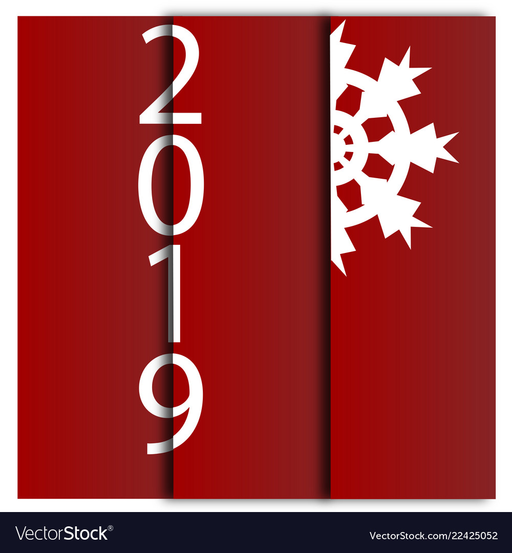 Happy new year 2019 decorative card with