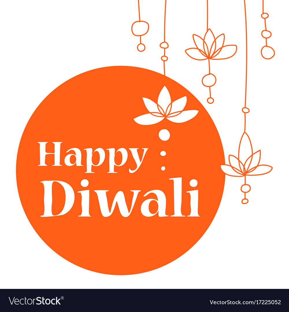 Or greeting card for diwali