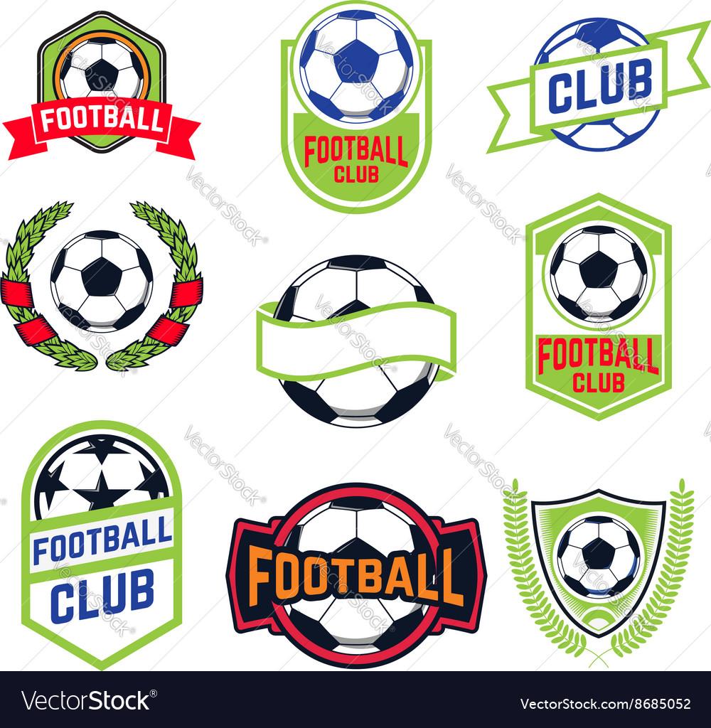 Set of football emblems
