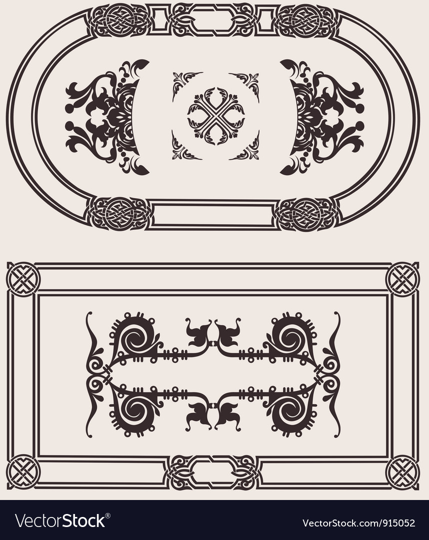 Set Of Frames vector image