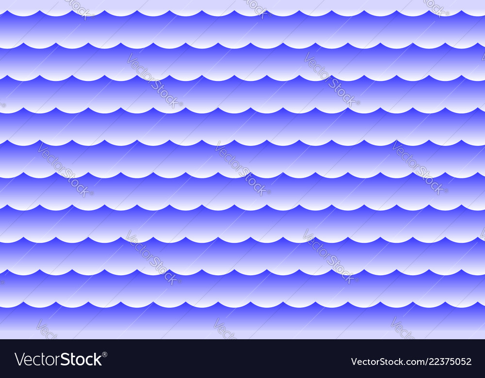 Waves - abstract white and blue