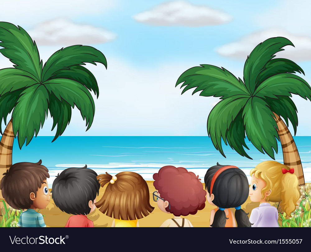 A group of kids at the beach