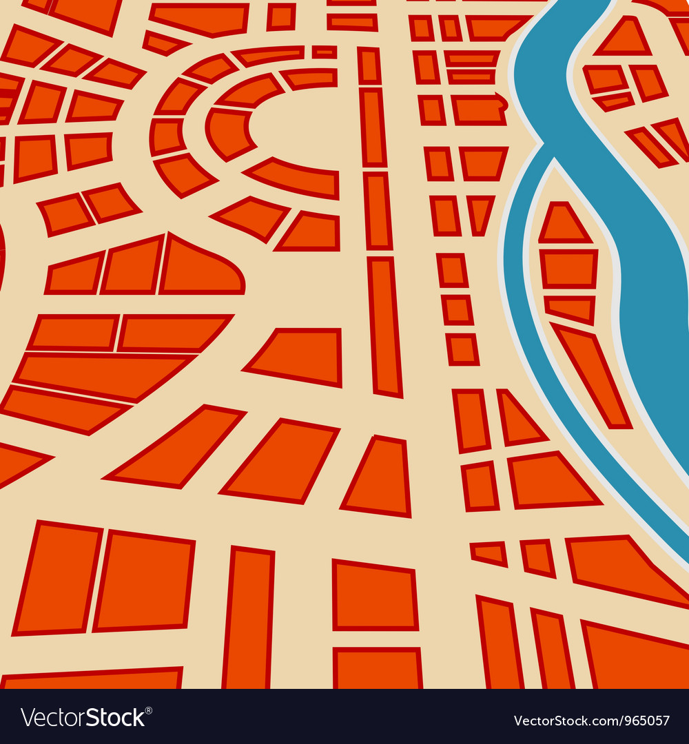 Background of city map vector image