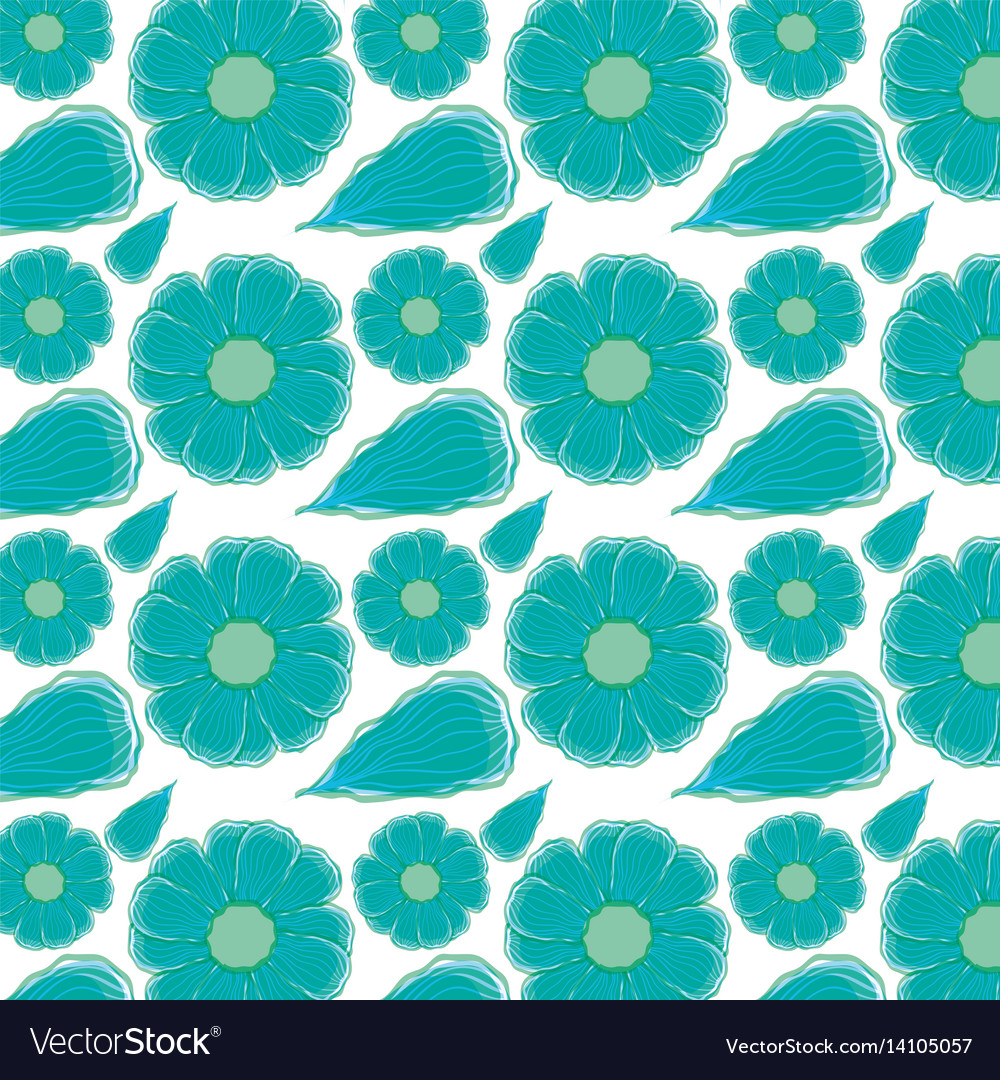 Beautiful blue flowers pattern background vector image izmirmasajfo