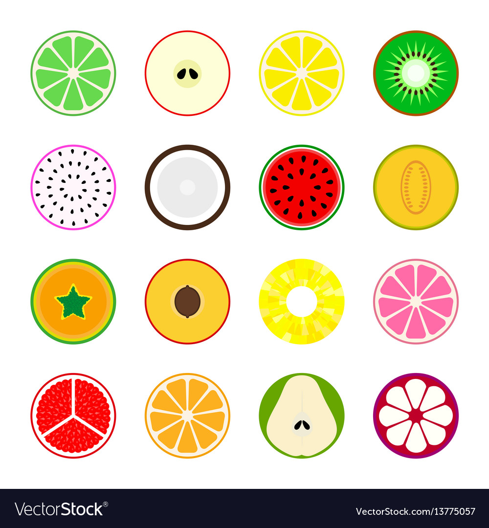 Collection of fruit icons