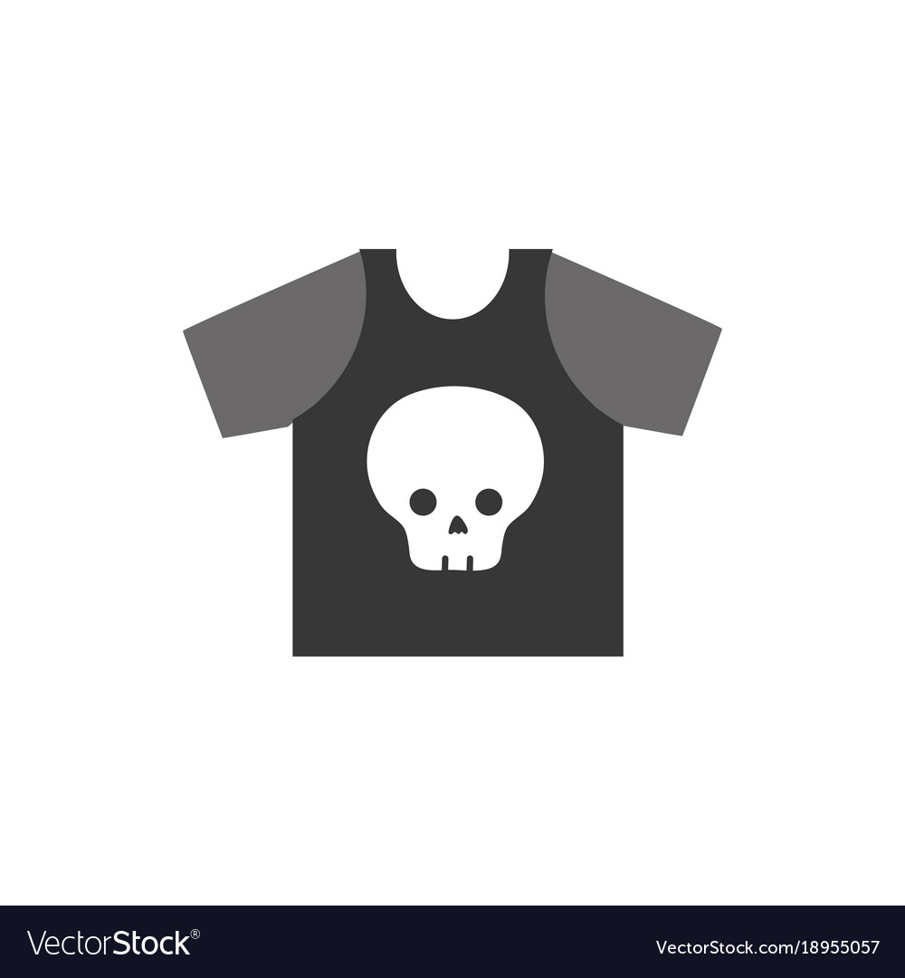 Colorful Rock T Shirt With Skull Design Casul Vector Image