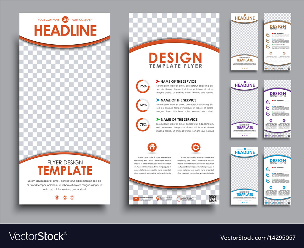 design white flyers size of 210x99 mm royalty free vector