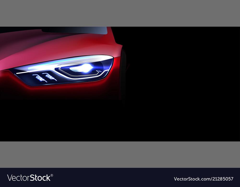 Digital red modern sport car mockup