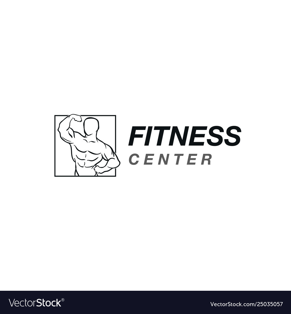 Fitness logo design templatedesign for gym and