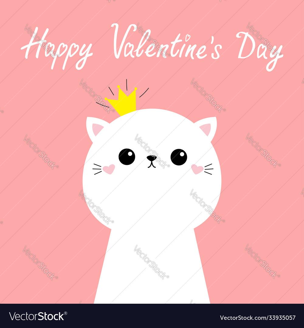 Happy valentines day cute cat kitten kawaii kitty