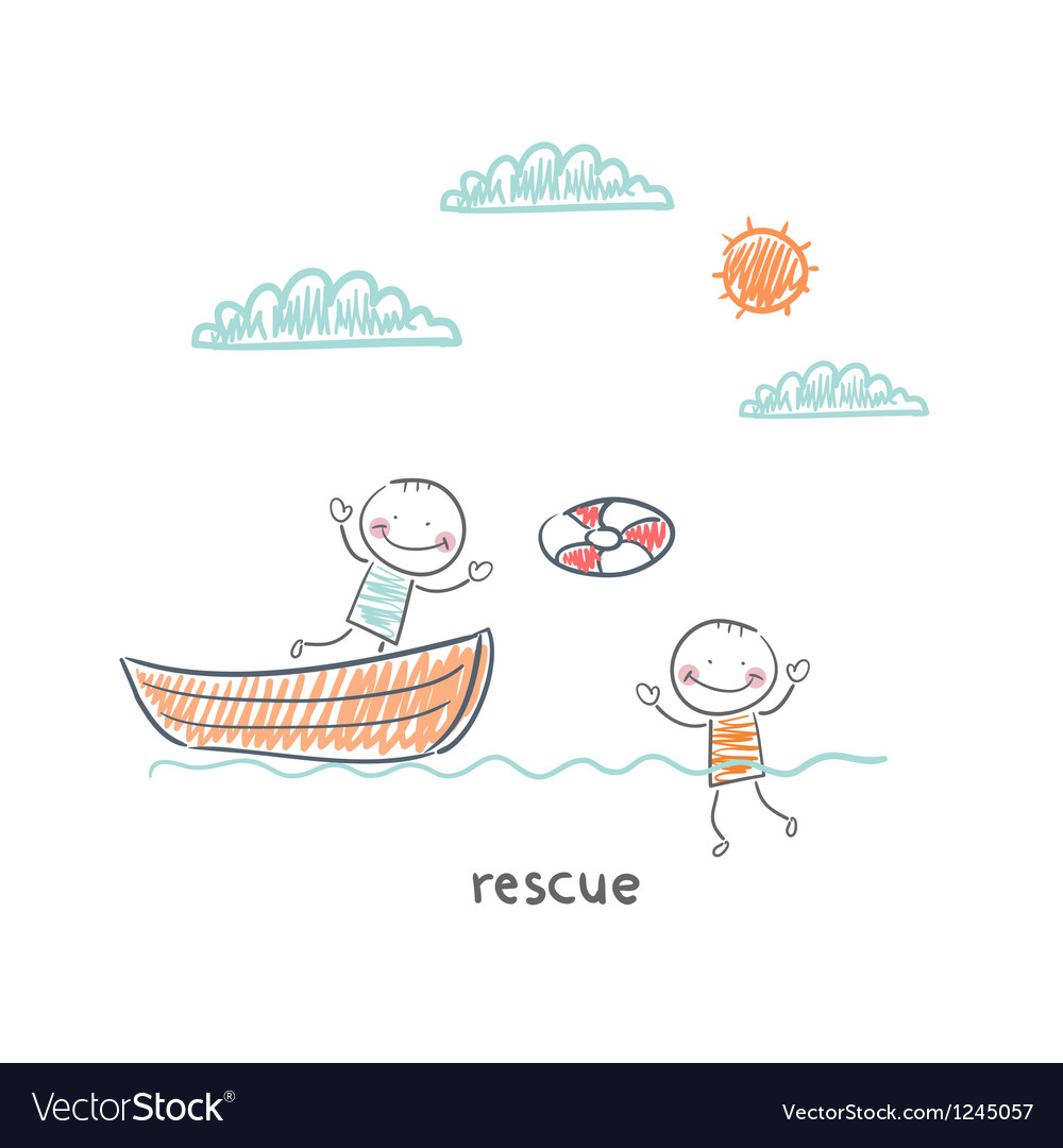 Rescuer vector image