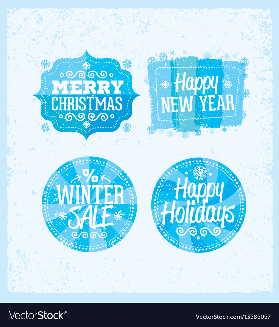 Special winter offer banner - text in blue and vector image