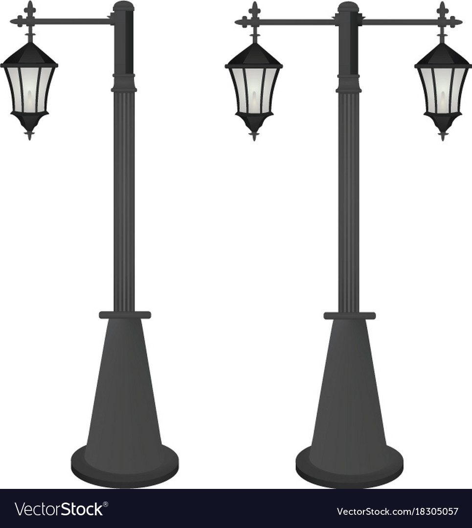 vintage street lamps royalty free vector image