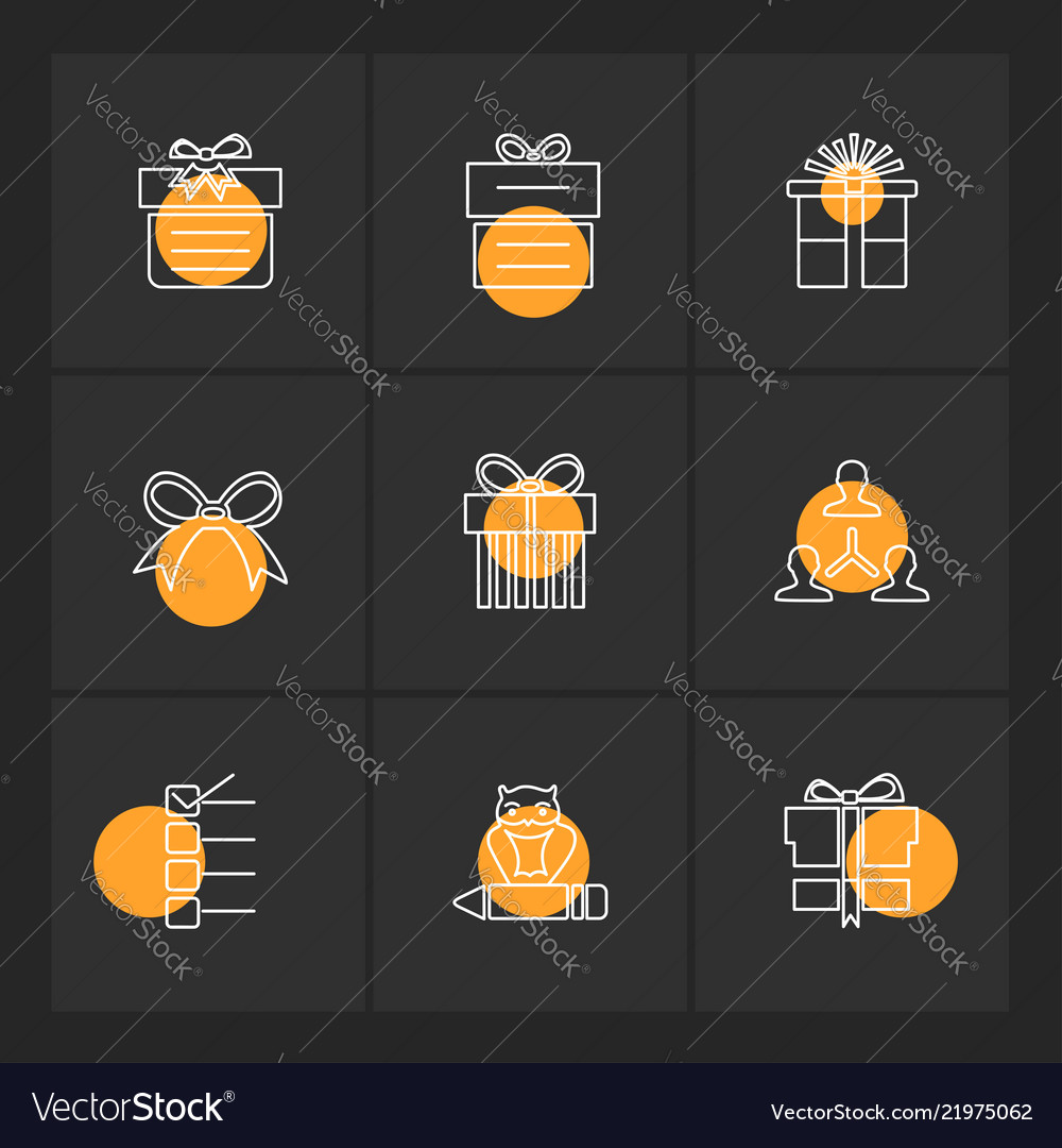 Giftboxes gifts christmas birthdays dollar Vector Image