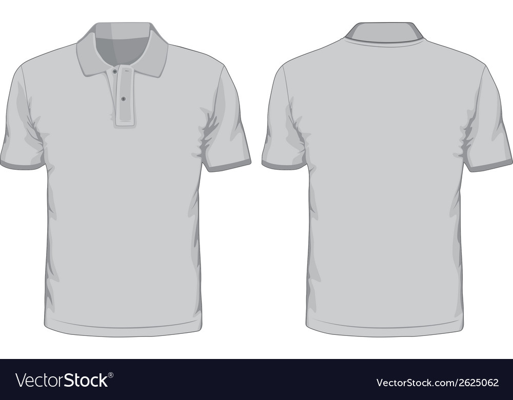 Mens Polo Shirts Template Front And