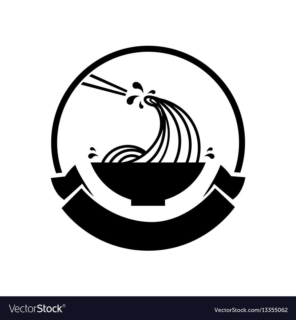 Noodle wave in bowl logo