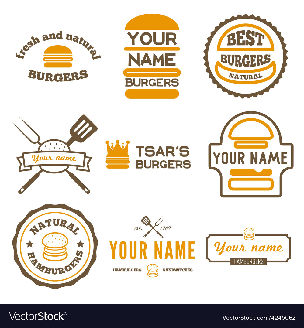 Set of logo labels stickers and logotype vector image