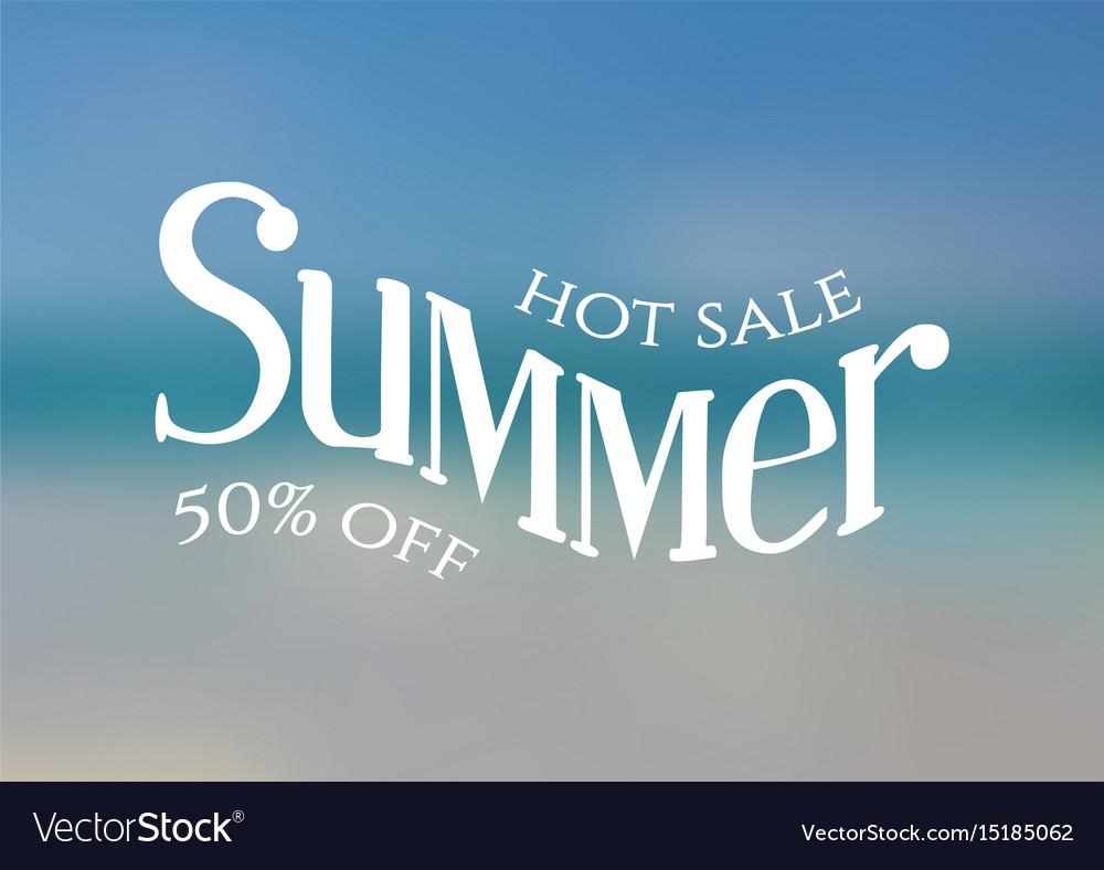 Summer white vector image