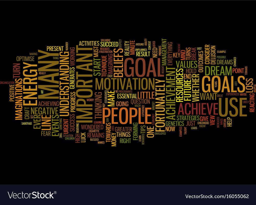 The Art Of Achievement Text Background Word Cloud