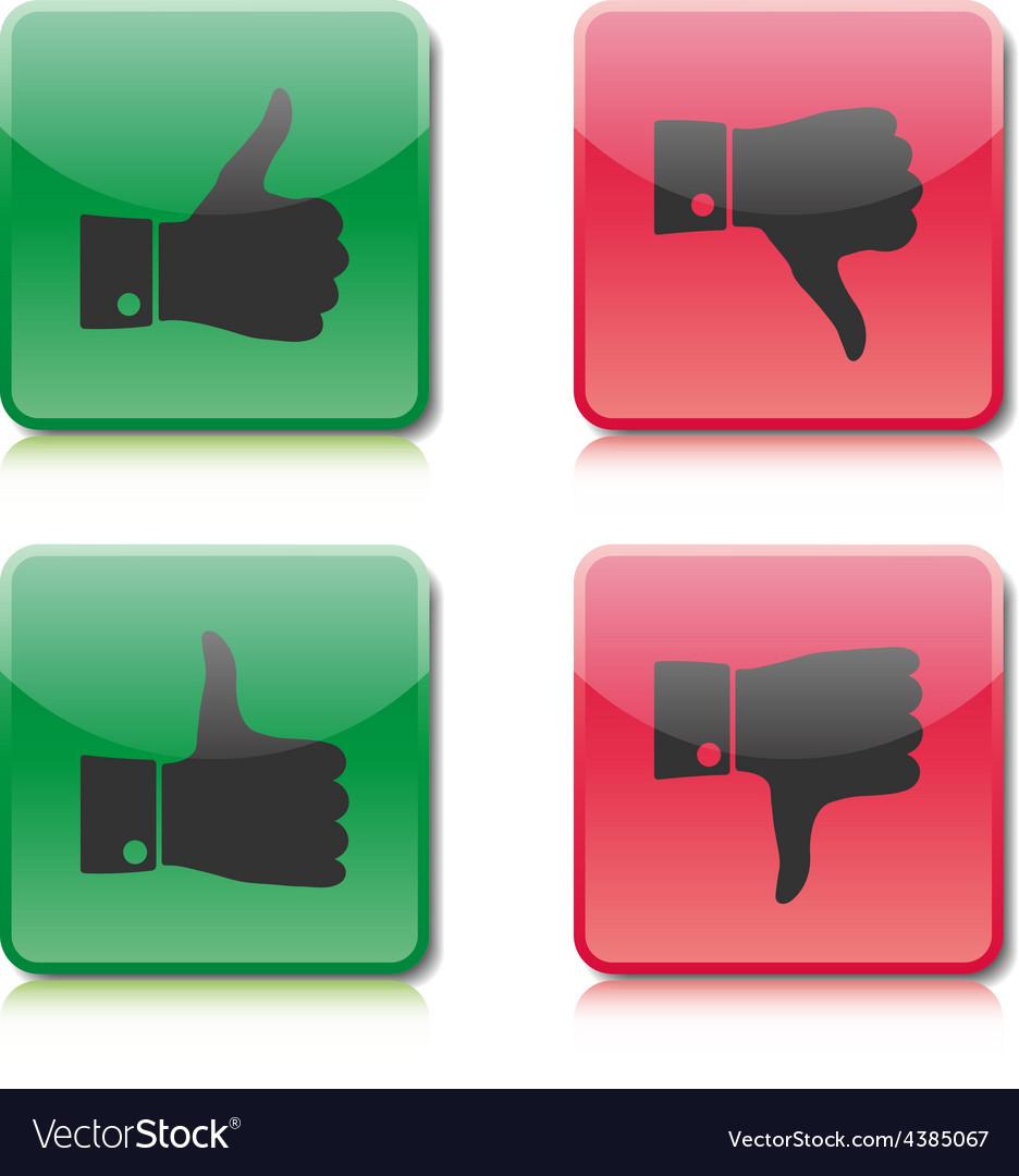 A set of buttons like and dislike
