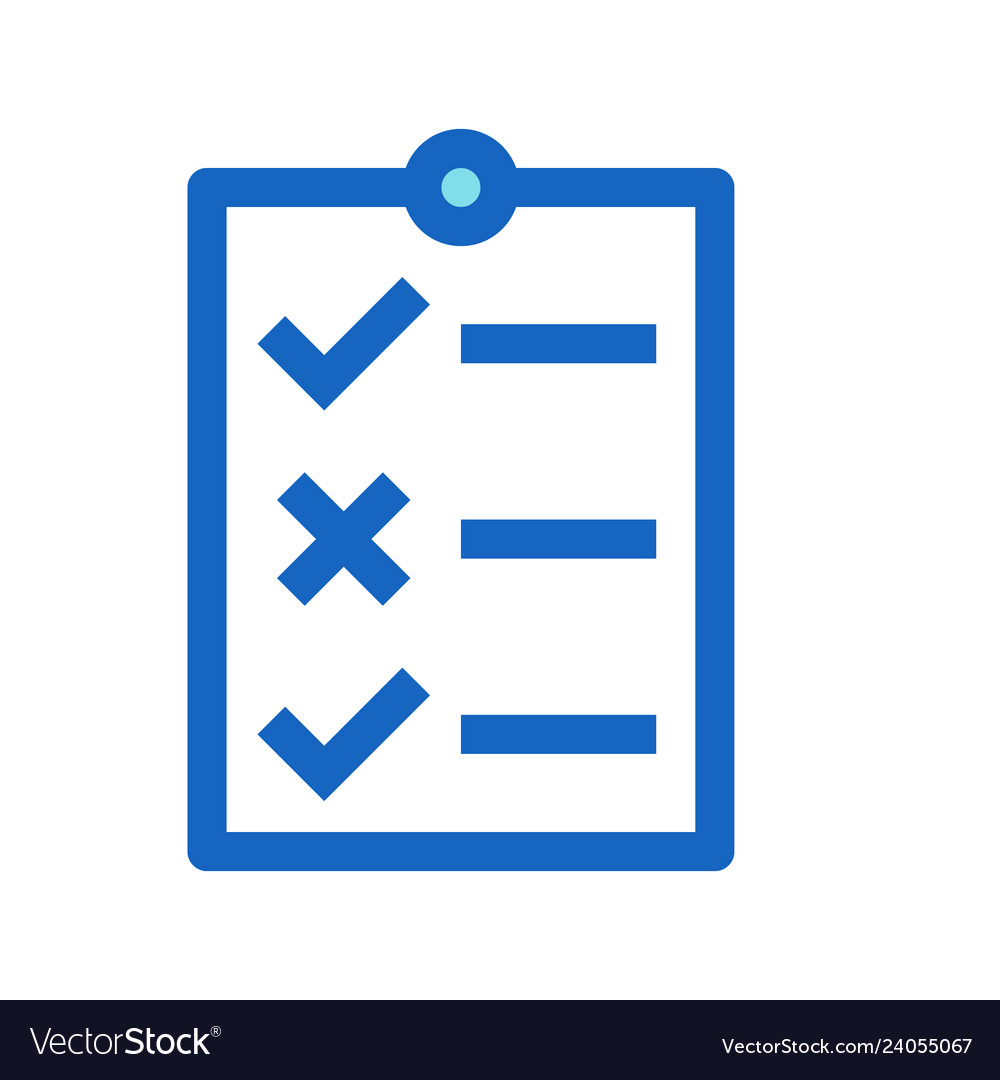 Business to do list filled line icon blue color
