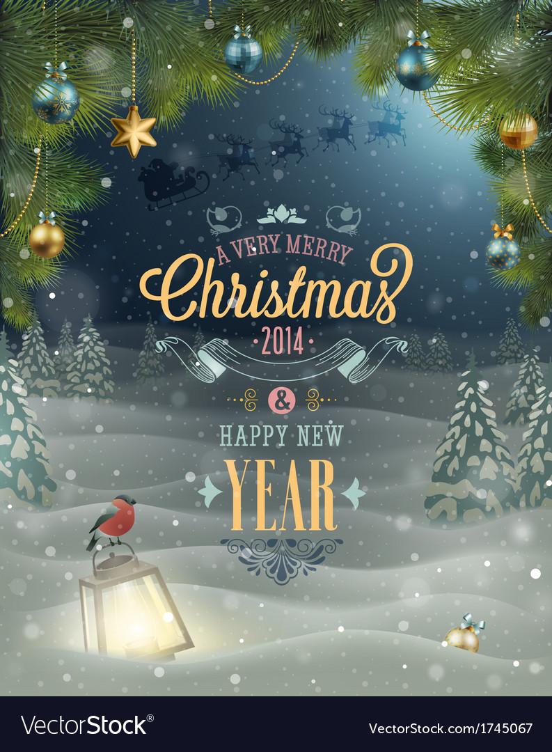 Christmas poster vector image
