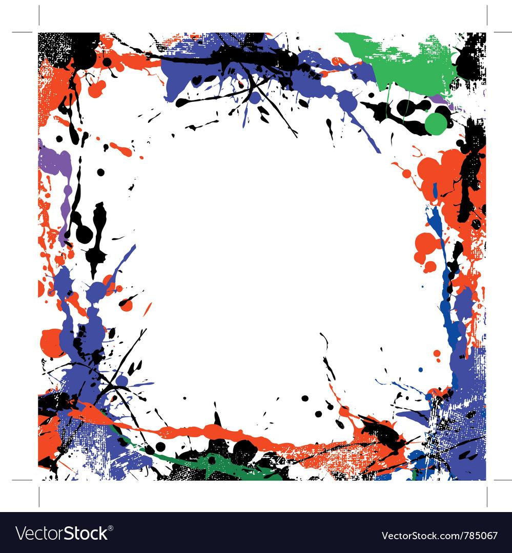 Coloured grunge art