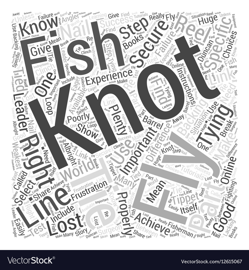 Fly Fishing Knots Word Cloud Concept vector image