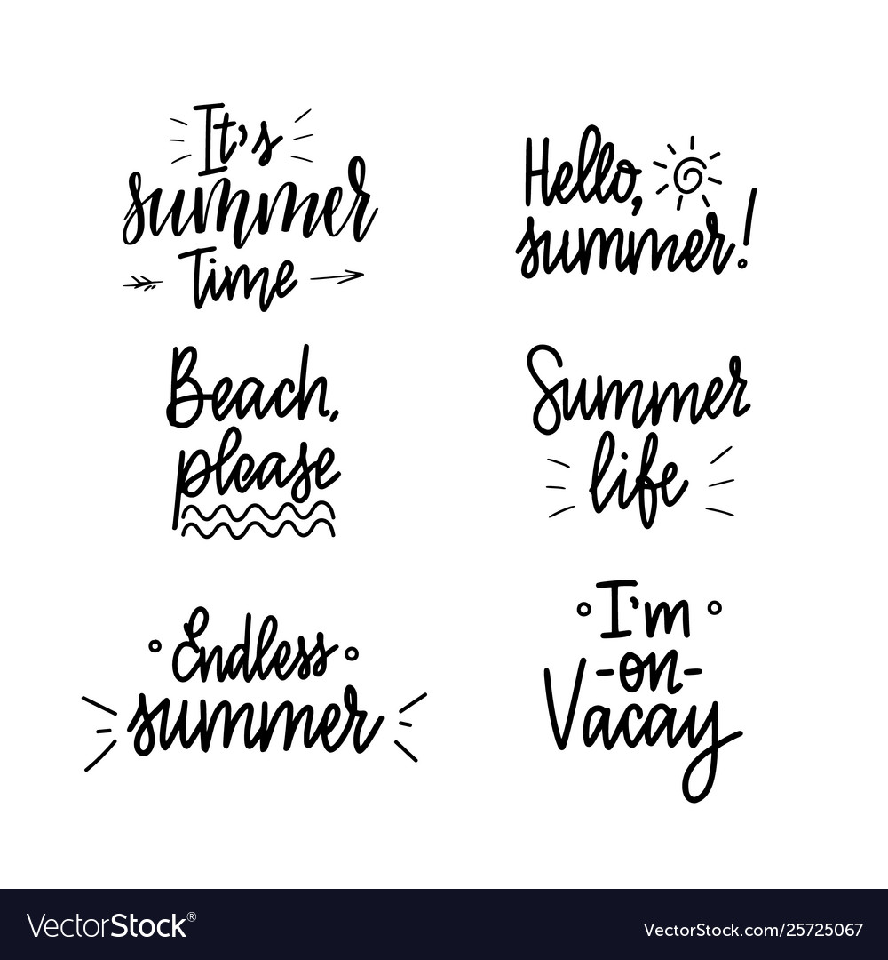 It is summer time lettering inspiraiton quote