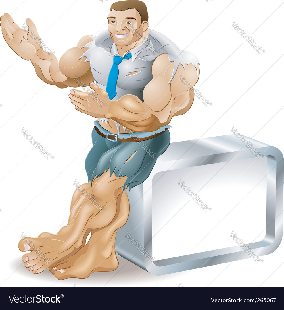 Muscle businessman