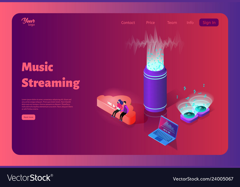 Online music streaming from the cloud template