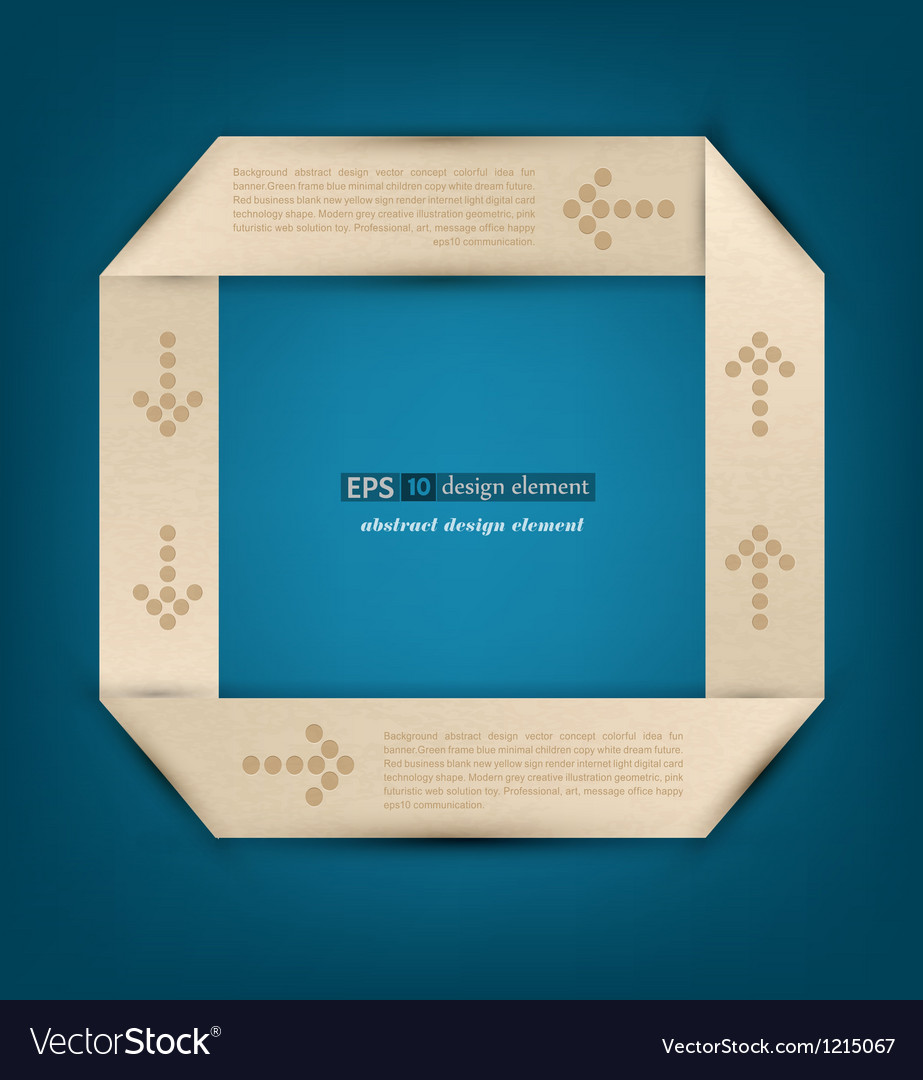 Origami the element of design to business vector image