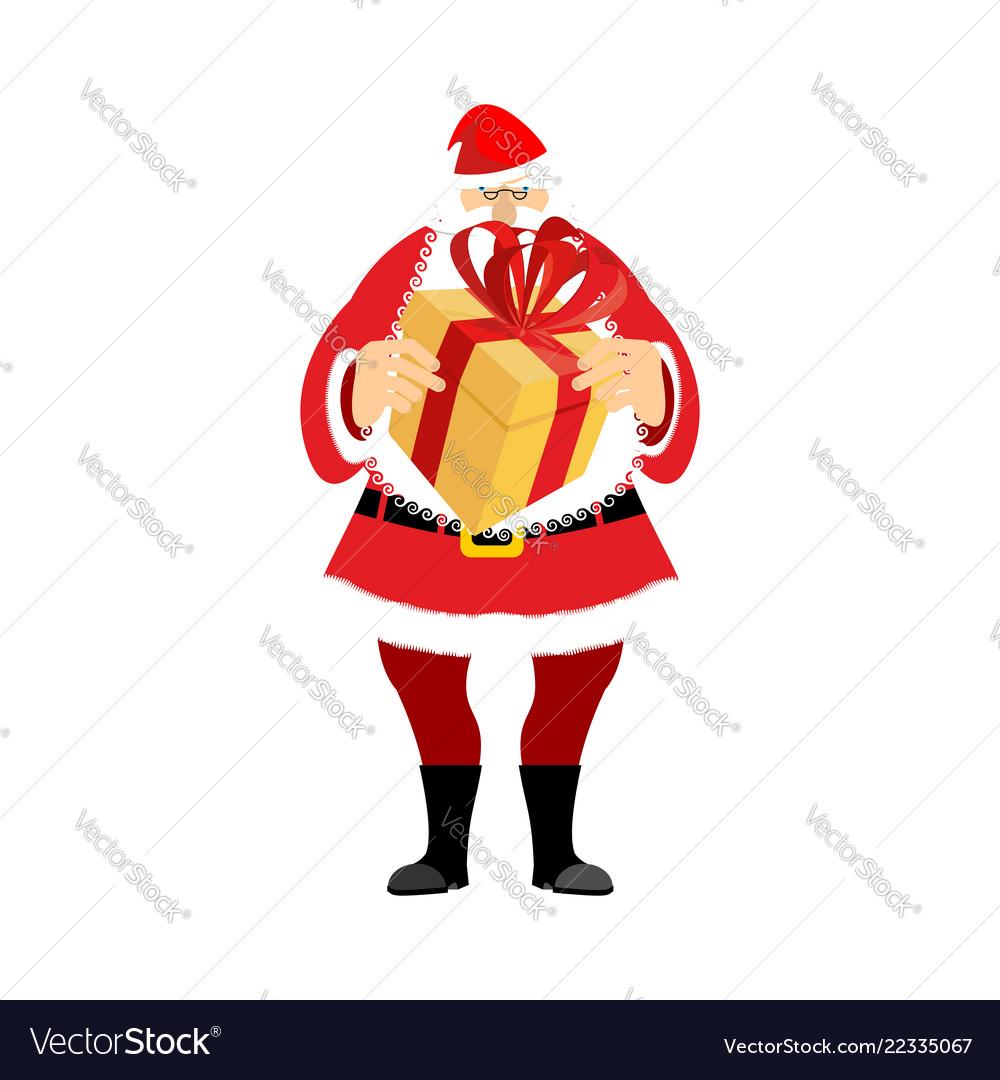 Santa claus and gift box christmas and new year