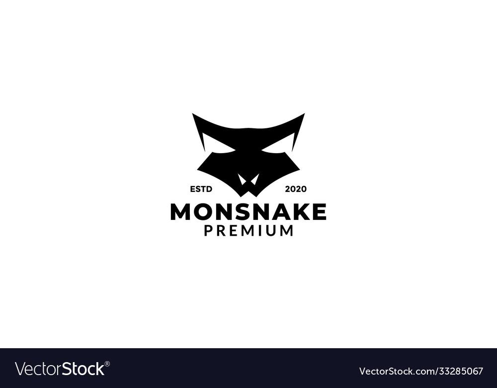 Snake head animal reptile roar logo design
