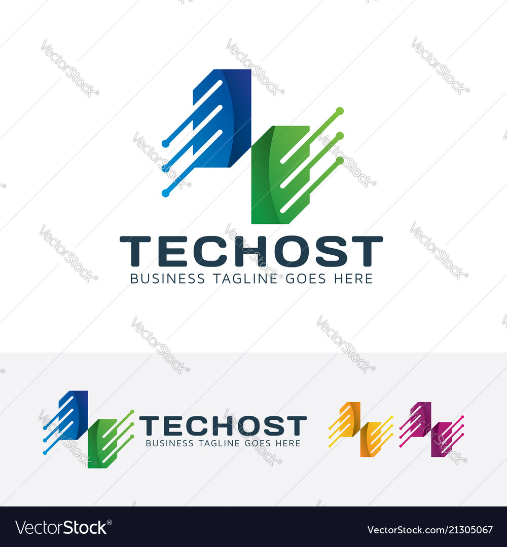 Technology host logo design