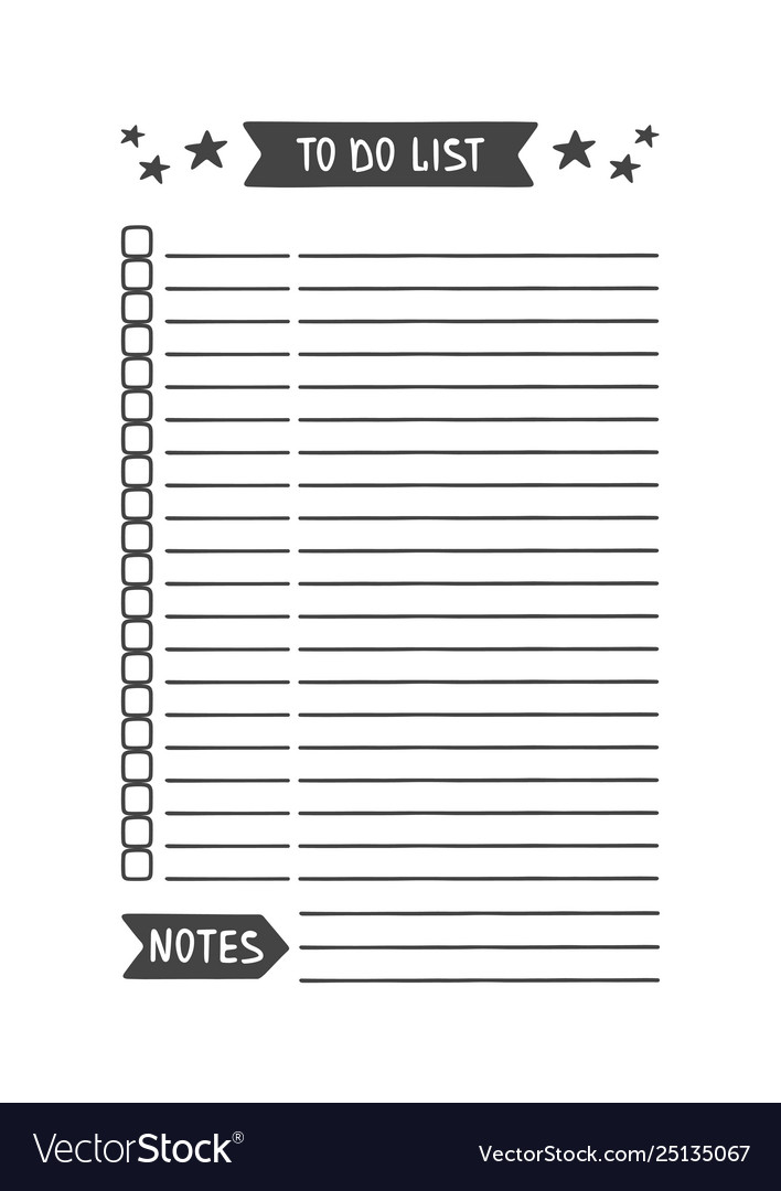 To do list template printable organizer