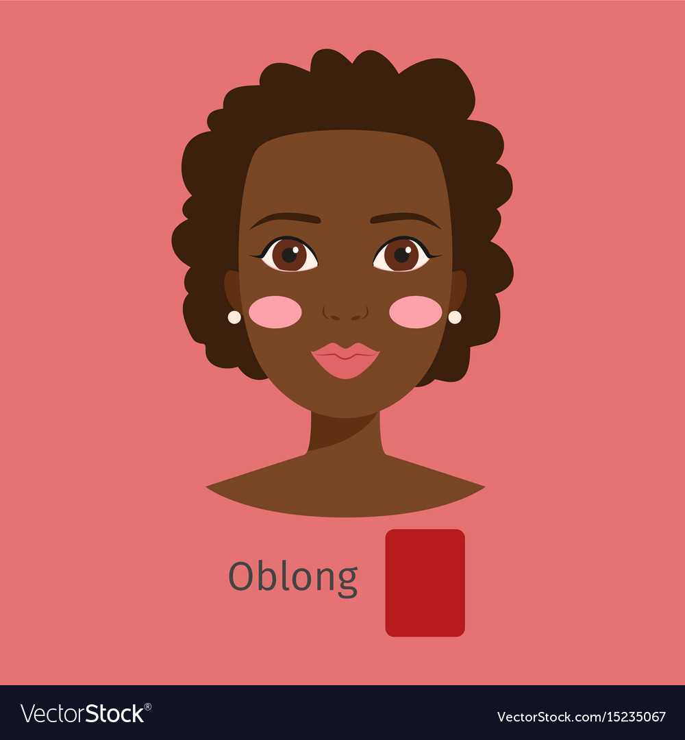 Woman face type oblong