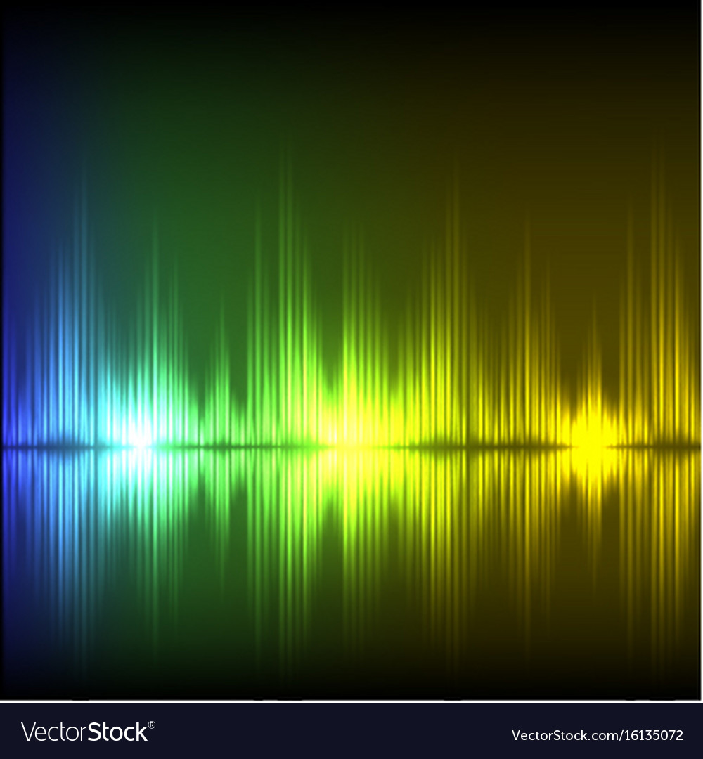 Abstract equalizer background blue-green-yellow