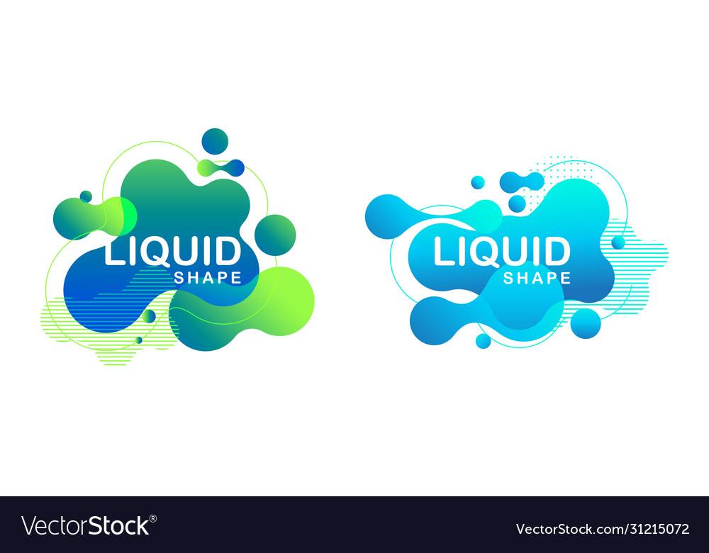 Abstract liquid shape fluid design