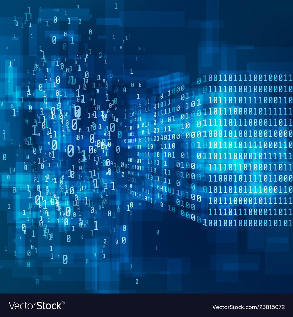 Big data concept digital information