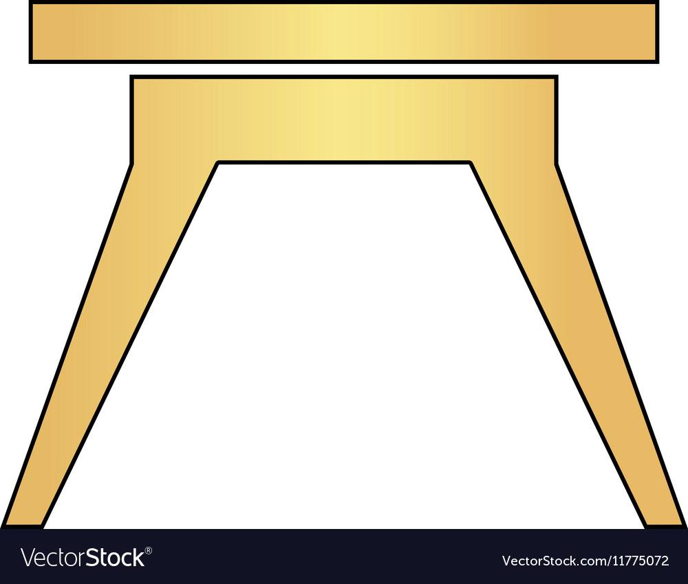 Camping table computer symbol vector image