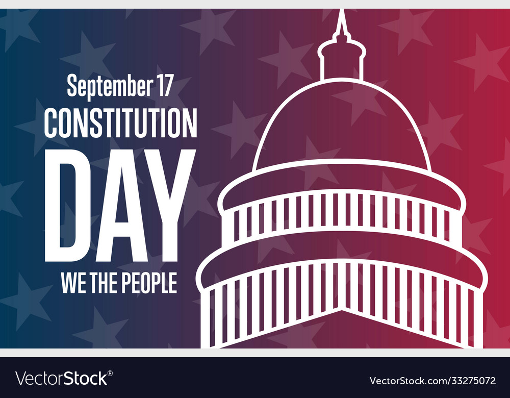 Constitution day september 17 holiday concept