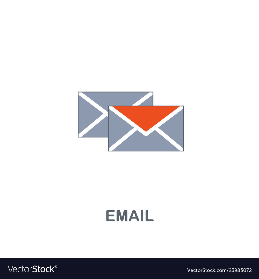 Email icon premium two colors style design from