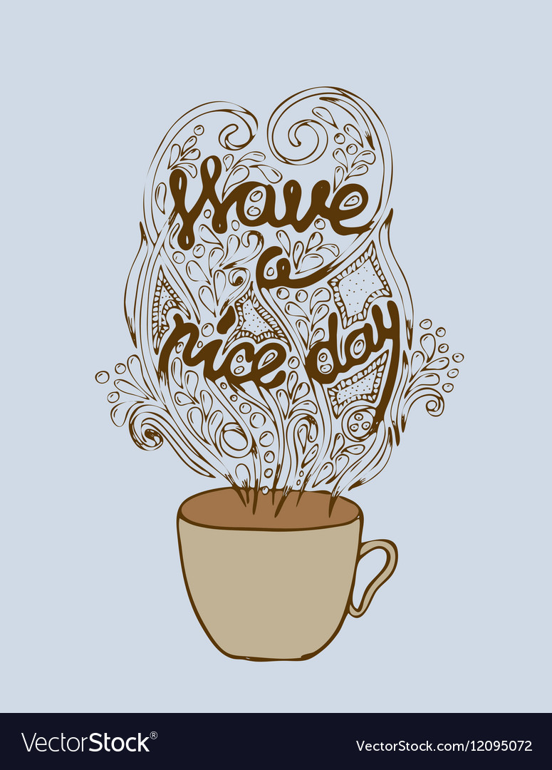 Have a nice day poster concept Coffee party card