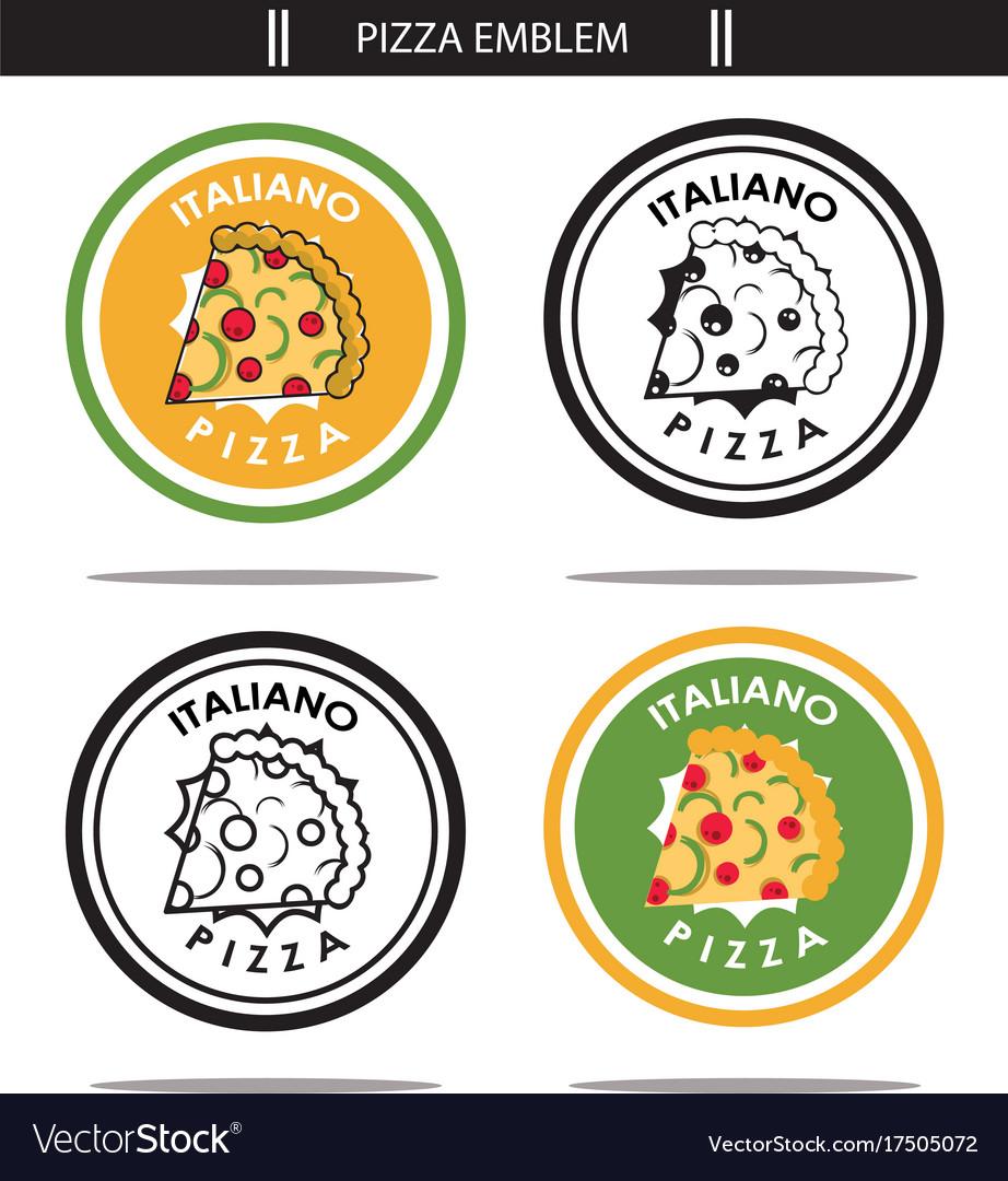 Italiano pizza emblem vector image