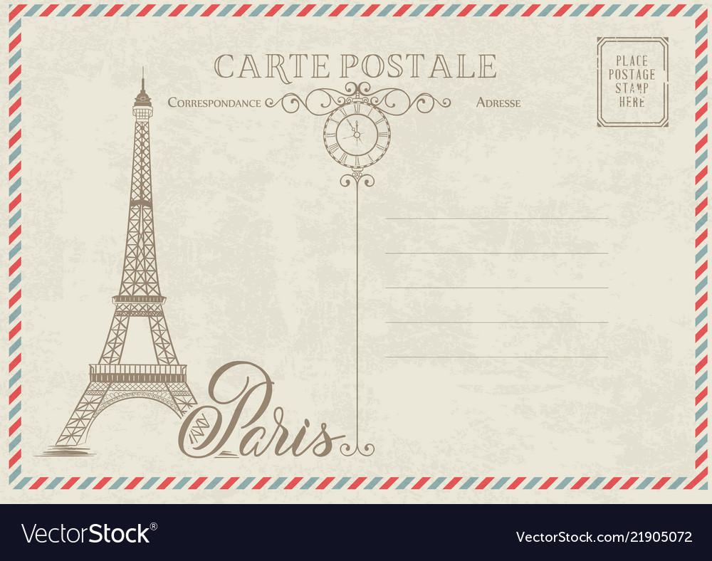 old blank postcard royalty free vector image vectorstock