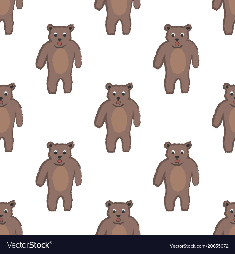 Seamless childish pattern with funny character of