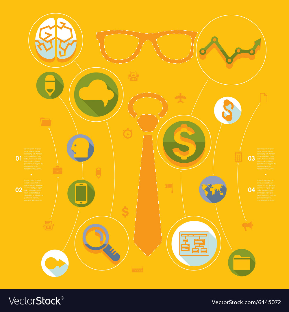Set of flat icons Business concept