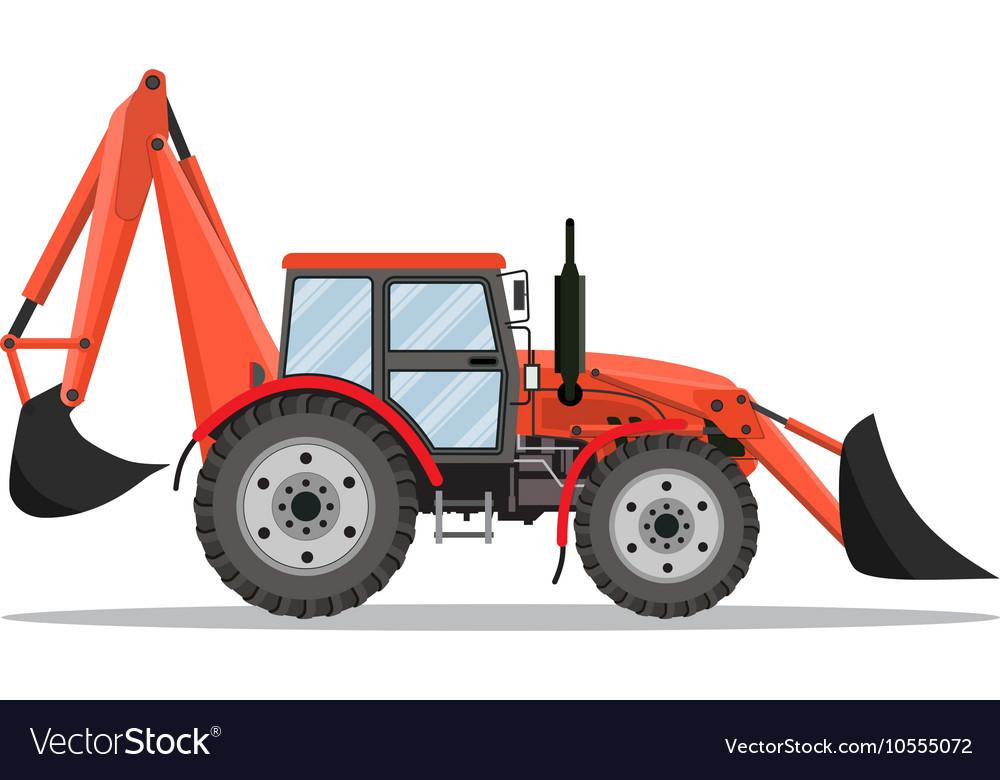 Tractor excavator bulldozer icon