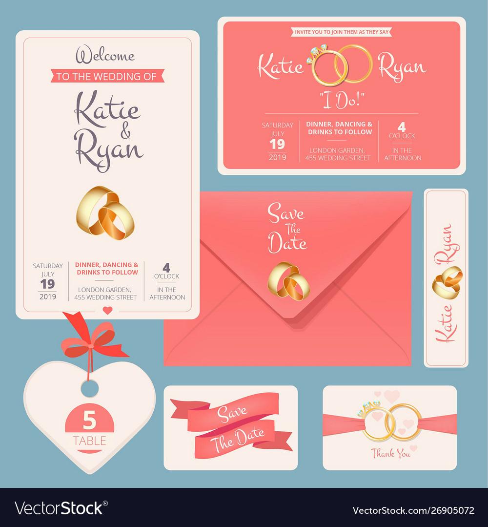 Wedding invitation save date anniversary couple